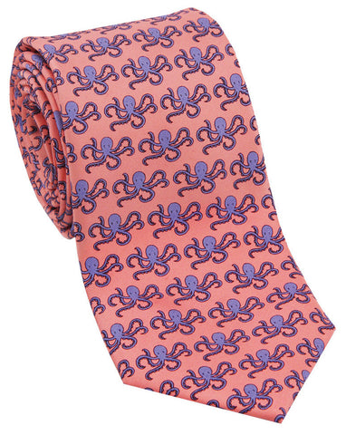 "100% Silk Tie made in NY ""Octopus"""