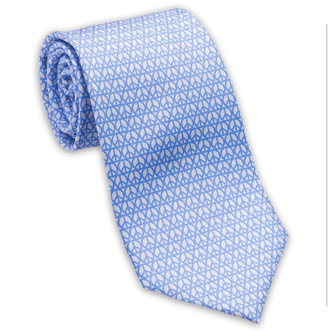 "100% Silk Tie made in NY ""Peace"""