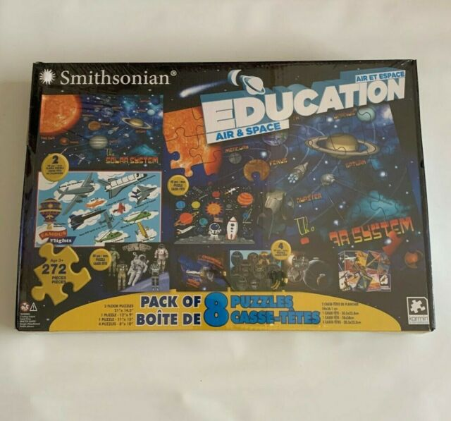 Air and Space pack of 8 puzzles by the Smithsonian Collection