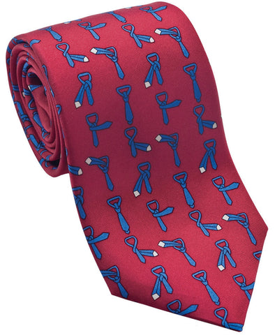"100% Silk Tie made in NY ""How to Tie a Tie"""