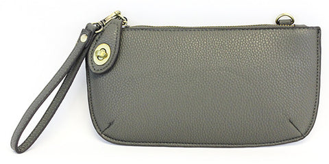 Vegan Wristlet/Crossbody Charcoal
