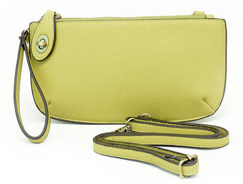 Vegan Wristlet/Crossbody Lime