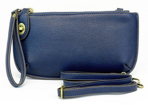 Vegan Wristlet/Crossbody Navy