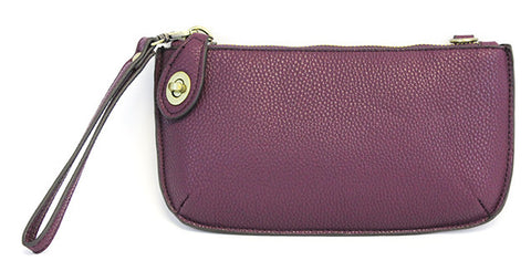 Vegan Wristlet/Crossbody Plum