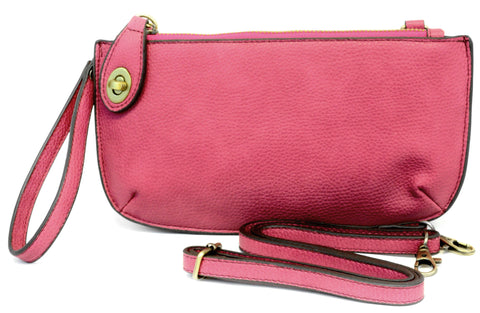 Vegan Wristlet/Crossbody Raspberry