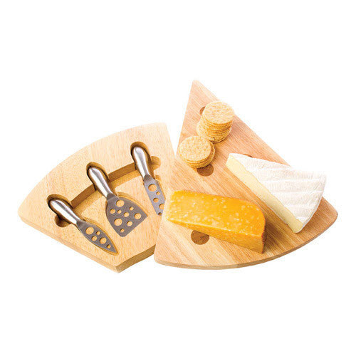 Wedge Cheese Board and Knives
