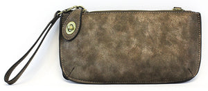 Vegan Wristlet/Crossbody Lux Latte