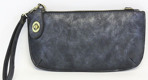 Vegan Wristlet/Crossbody Lux Midnight