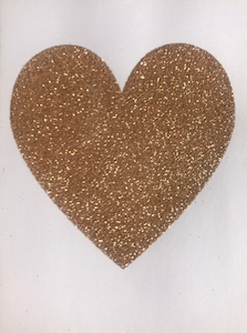 Gold Sparkly Heart