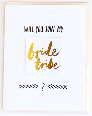 Will you Join My Bride Tribe (with tattoo) +$9