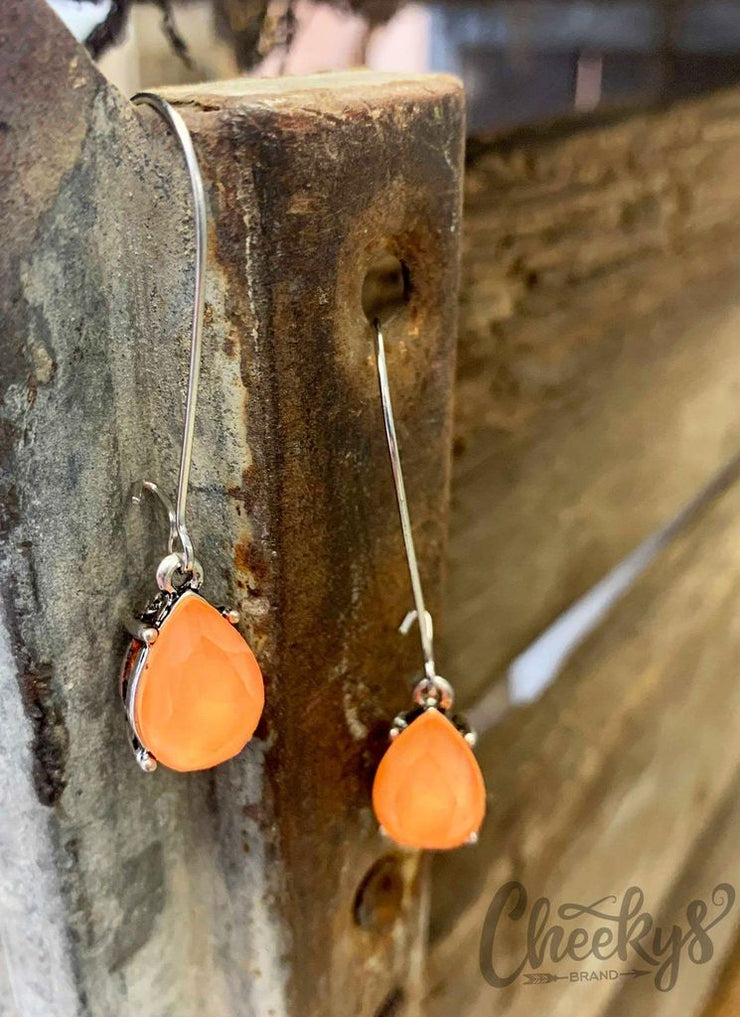 Sparkling in the Sun - Peach Earrings