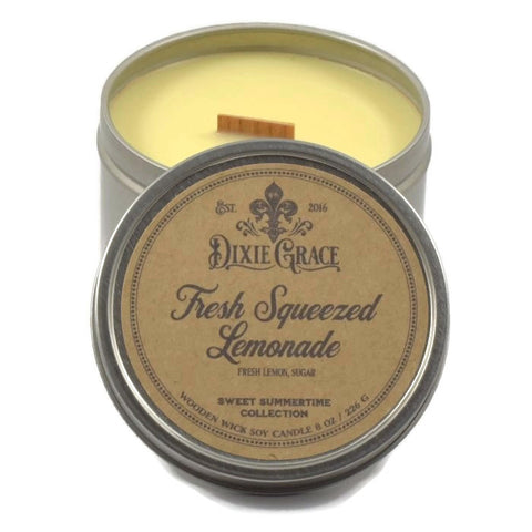 Fresh Squeezed Lemonade - Tin - Wooden Wick Candle
