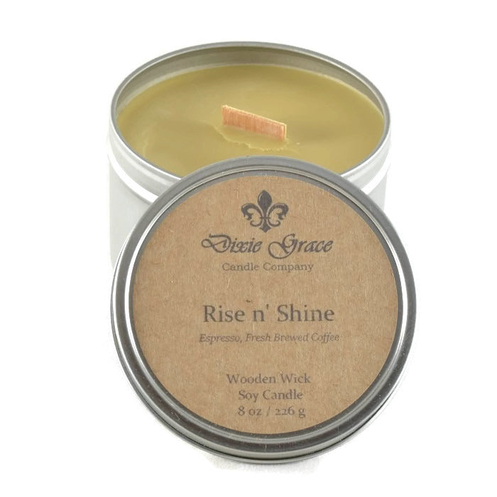 Rise 'N Shine - Tin - Wooden Wick Candle