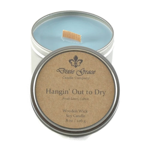 Hangin' Out to Dry - Tin - Wooden Wick Candle