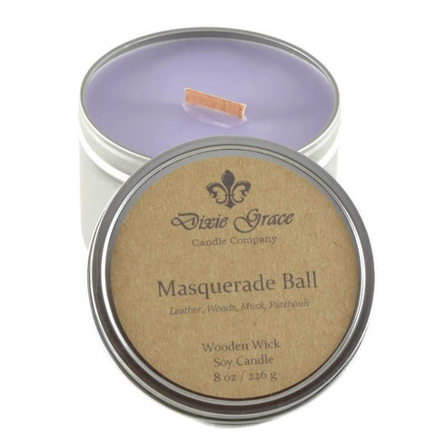 Masquerade Ball - Tin - Wooden Wick Candle