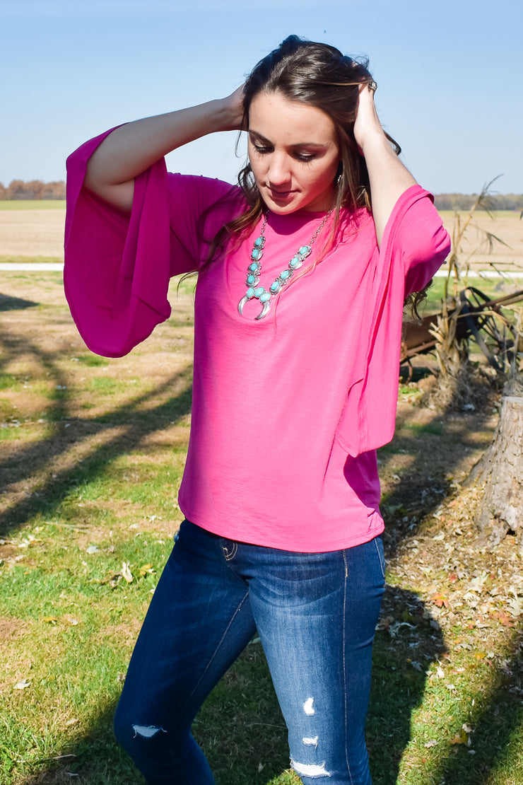 Ring My Bell - Bell Sleeve Top