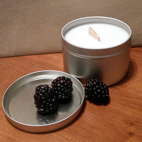 Wild Blackberry Briars - Tin - Wooden Wick Candle