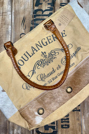 Boulangerie w/ Hair on Hide - Tote