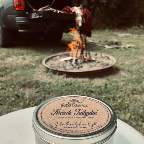 Fireside Tailgatin' - Tin - Wooden Wick Candle
