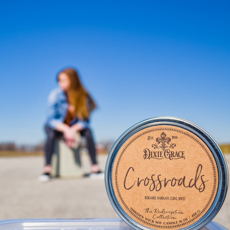 Crossroads - Tin - Wooden Wick Candle