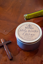 Holy Water & Wine - Tin - Wooden Wick Candle