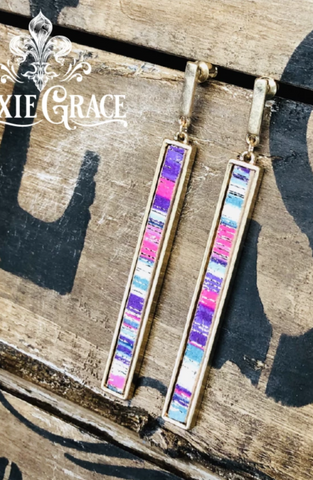 Earrings - Serape in Gold