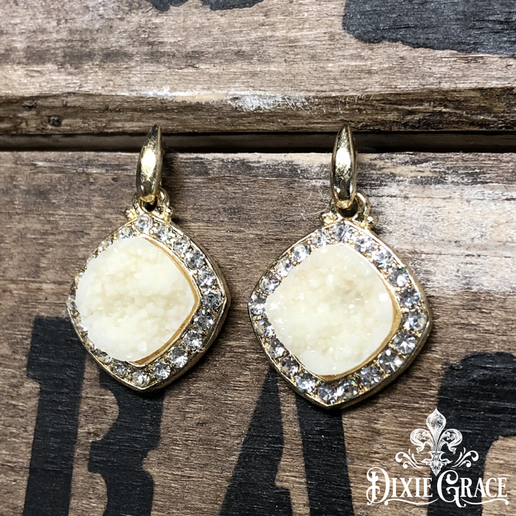 XXX - Earrings - Vanilla Sparkles in Gold - On Sale!