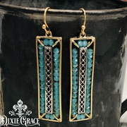 Earrings - Mint in Washed Gold