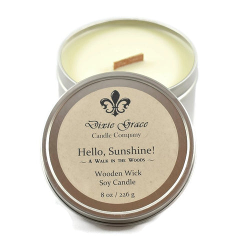 Hello, Sunshine! - Tin - Wooden Wick Candle