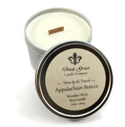 Appalachian Breeze - Tin - Wooden Wick Candle