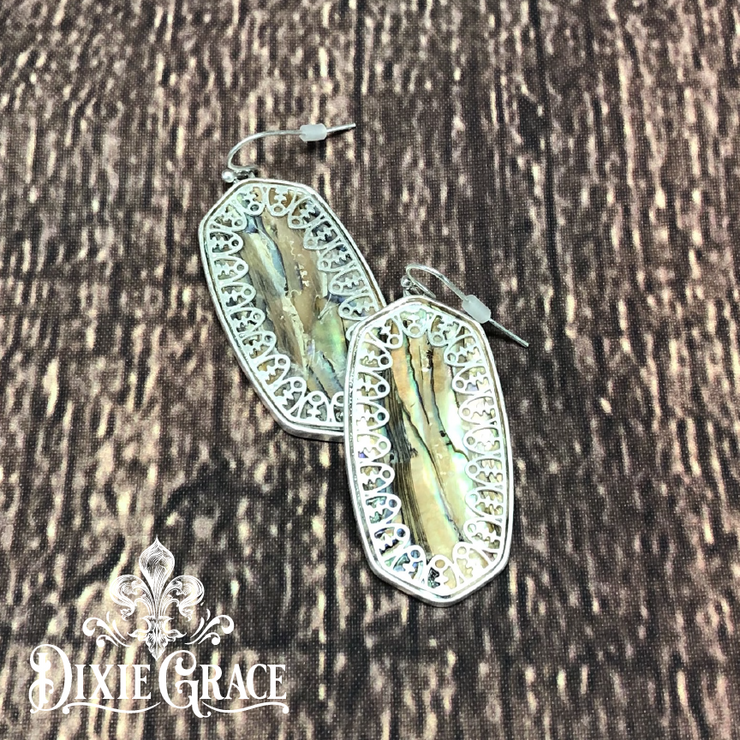 Earrings - Iridescent Camo in Silver