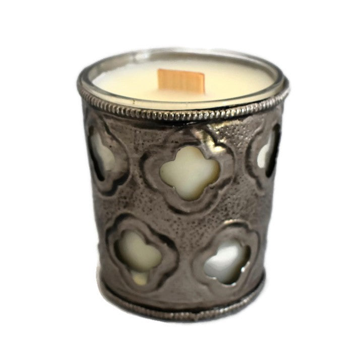Masquerade Ball - Royal Votive - Glass - Wooden Wick Candle