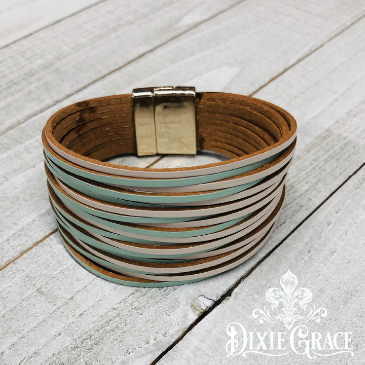 Bracelet - Mint Julep in Leather