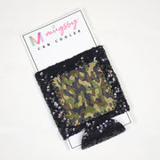 Can Cooler - Camo Sequin