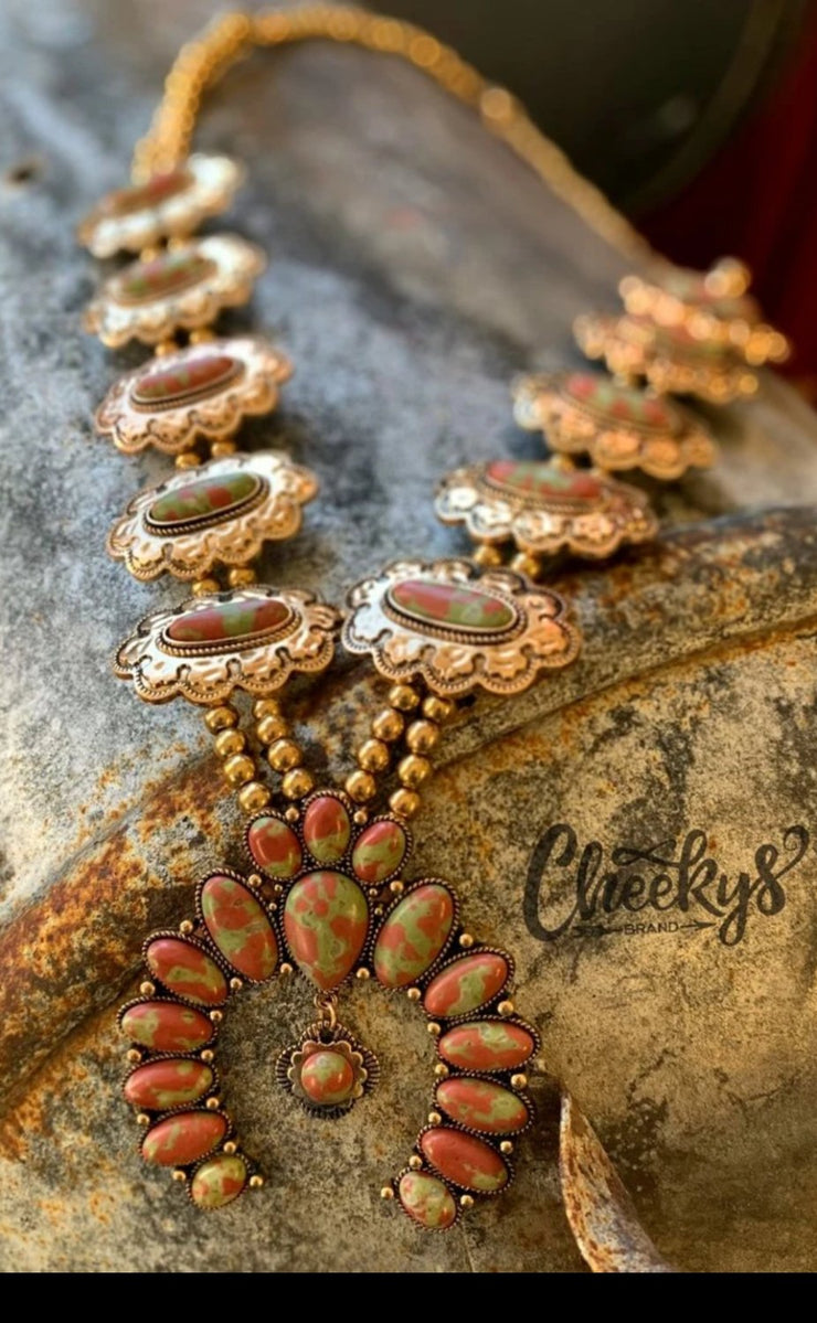 Necklace - Patsy Squash Blossom - Burnished Gold