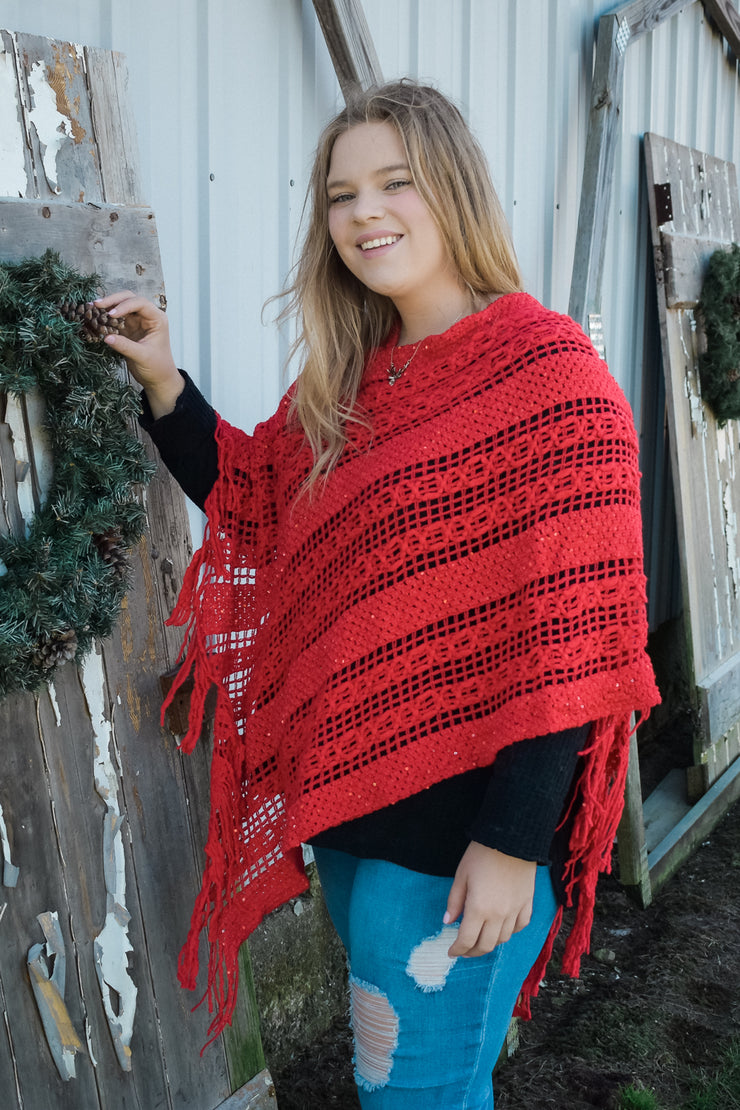 Something in Red - Poncho