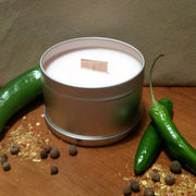 Spicy Bayou - Tin - Wooden Wick Candle