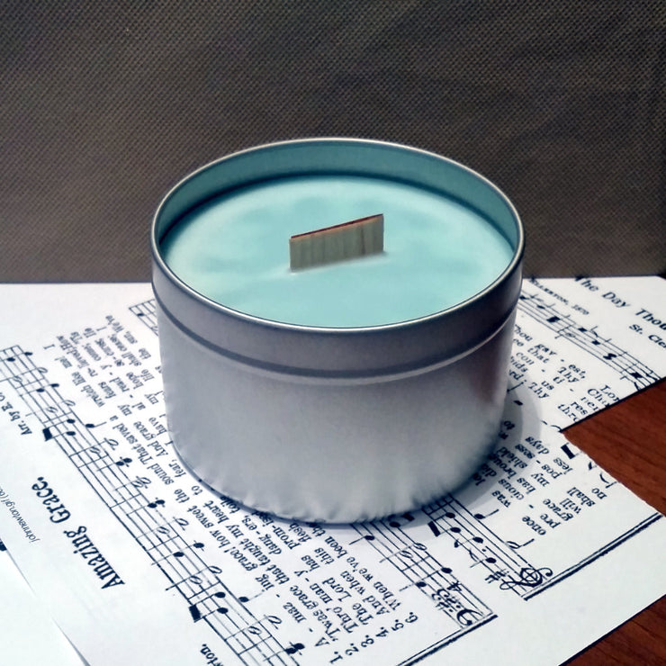 Sunday Hymns - Tin - Wooden Wick Candle