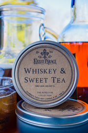 Whiskey & Sweet Tea - Tin - Wooden Wick Candle
