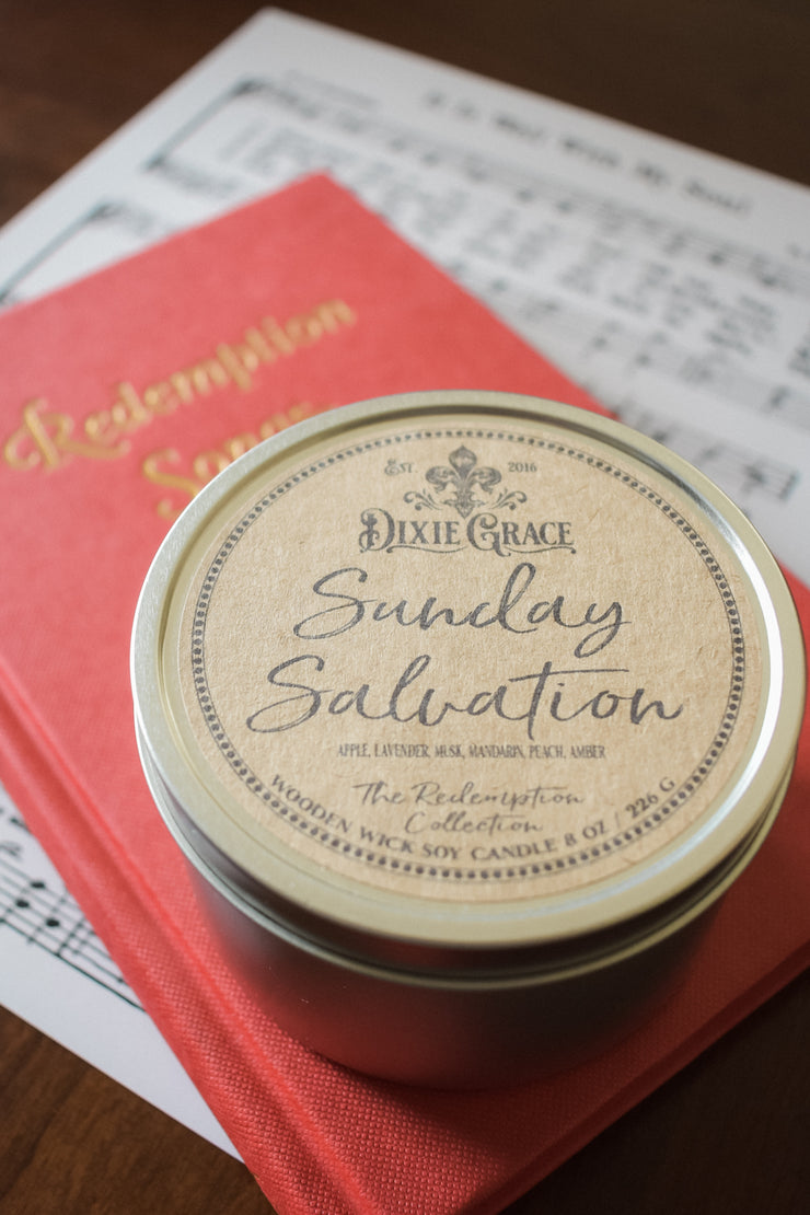 Sunday Salvation - Tin - Wooden Wick Candle