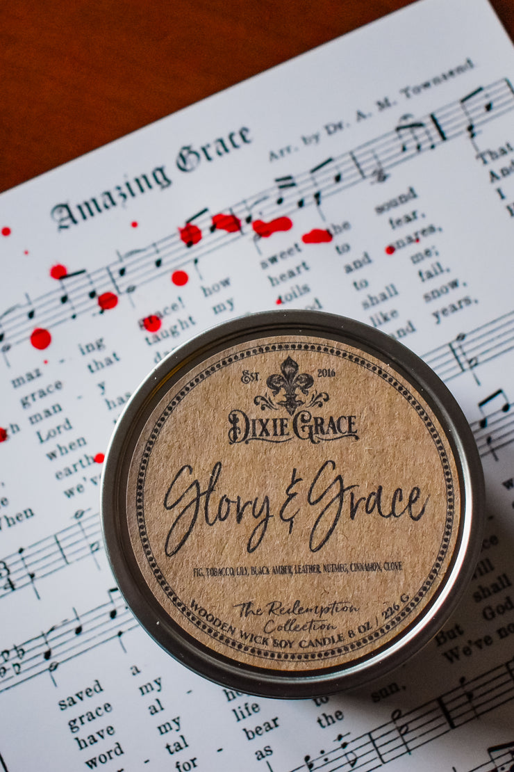 Glory & Grace - Tin - Wooden Wick Candle