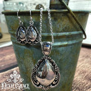 XXX - Necklace & Earrings Set - Antique Spoons in Silver - On Sale!
