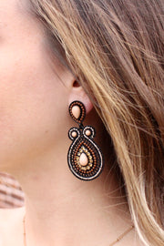 Earrings - Holy Water - Soutache Beadwork