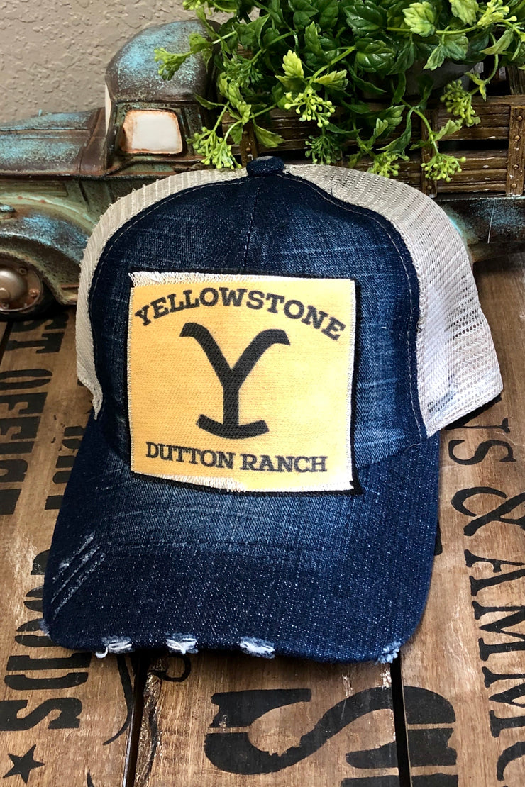 Hat - Yellowstone Logo - Denim