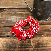 Red Bandana - Hair Scrunchie