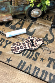 Chatty Cat - Lipstick/Lip Balm Holder - Leopard
