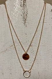 Double Layer - Gold Coin Necklace