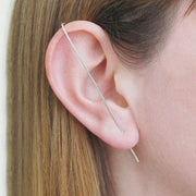 Ear Climber - Solid Bar - Silver