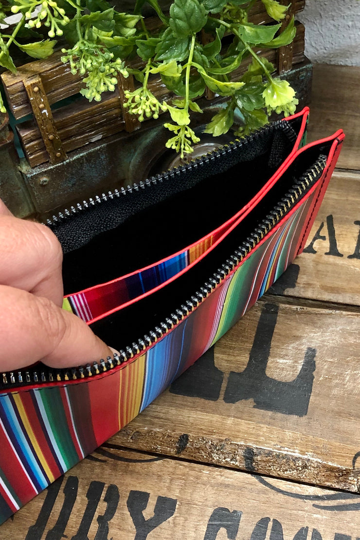 The West Is Calling - Wristlet Clutch w/ Bangle - Western Serape