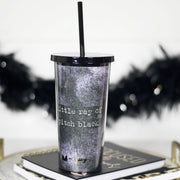 Little Ray Of Black - Large Tumbler w/ Straw